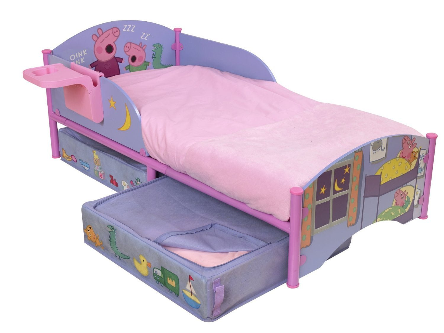 top reasons why your kids will love a peppa pig bed canopy 17528 | peppa pig bed with storage