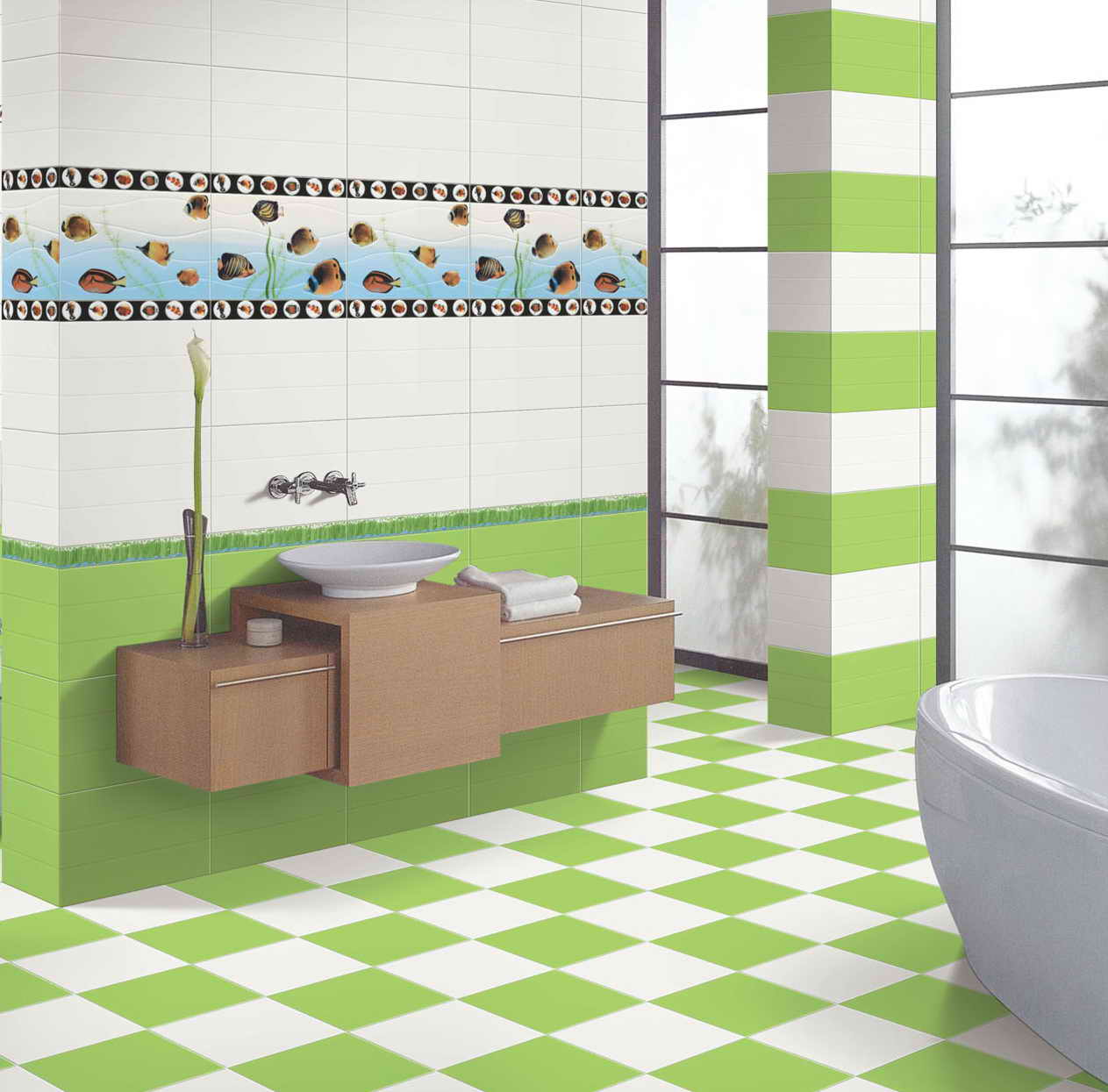 Standard Tub Size And Other Important Aspects Of The Bathroom: Floor And Wall Tiles Calculator
