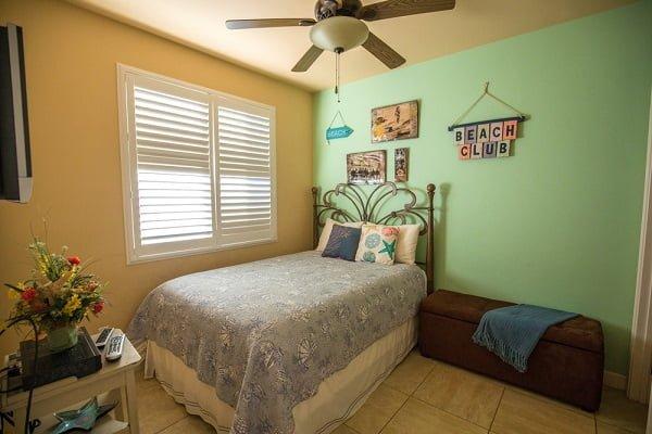Beige and Seafoam Green Bedroom