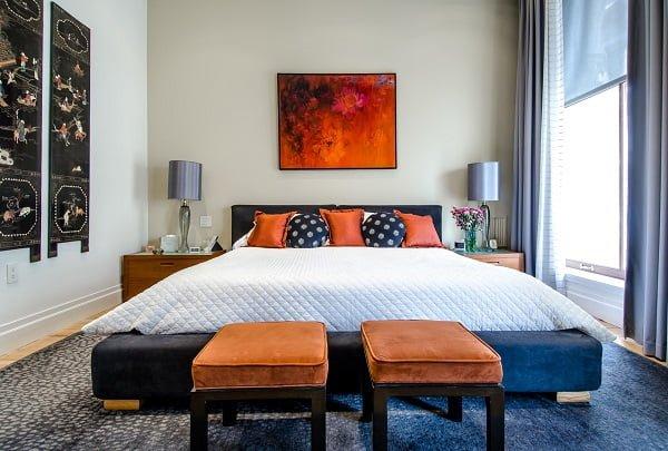 Blue and Beige Bedroom