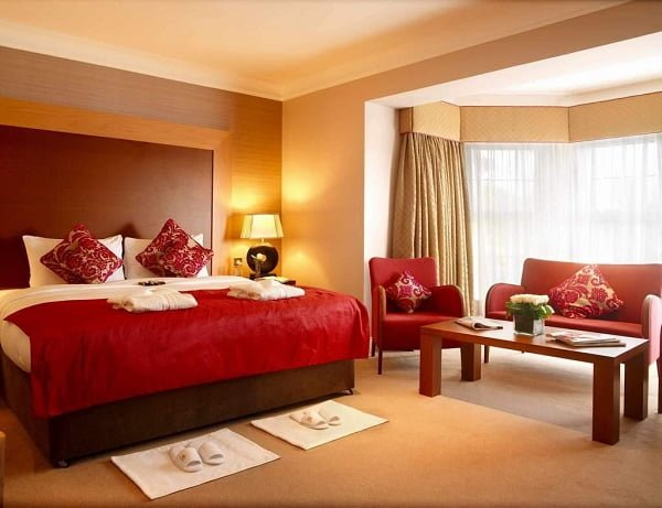 Low Contrast Red Bedroom