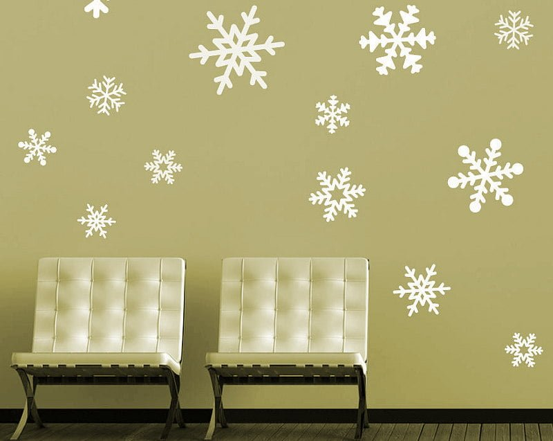 Snowflakes Room Wallpaper