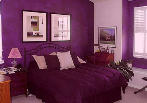 Bright Purple Bedroom