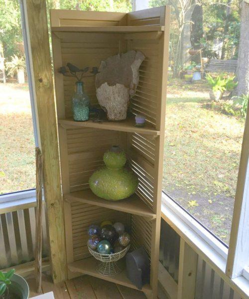 Old Shutter Corner Shelf
