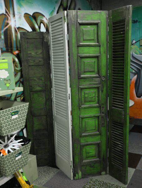 Old Shutter Room Divider