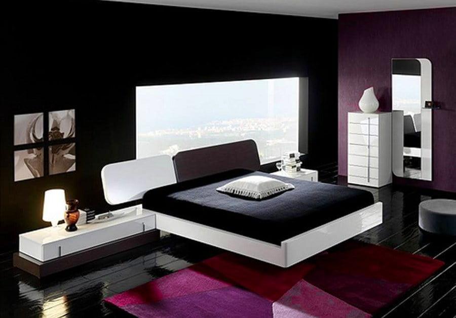 Black and Purple Bedroom