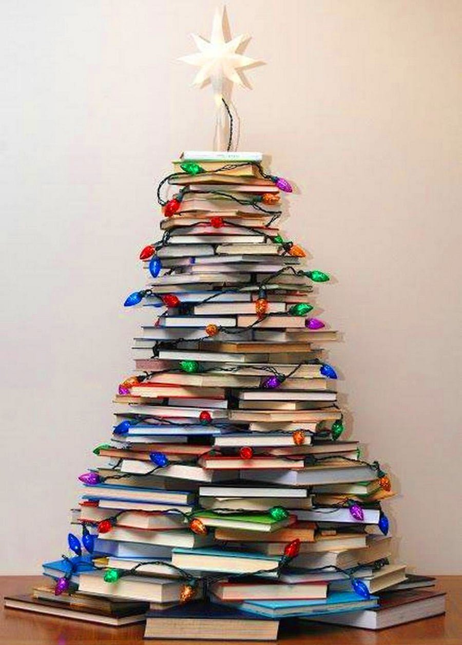 The Stack of Books Christmas Tree Alternative