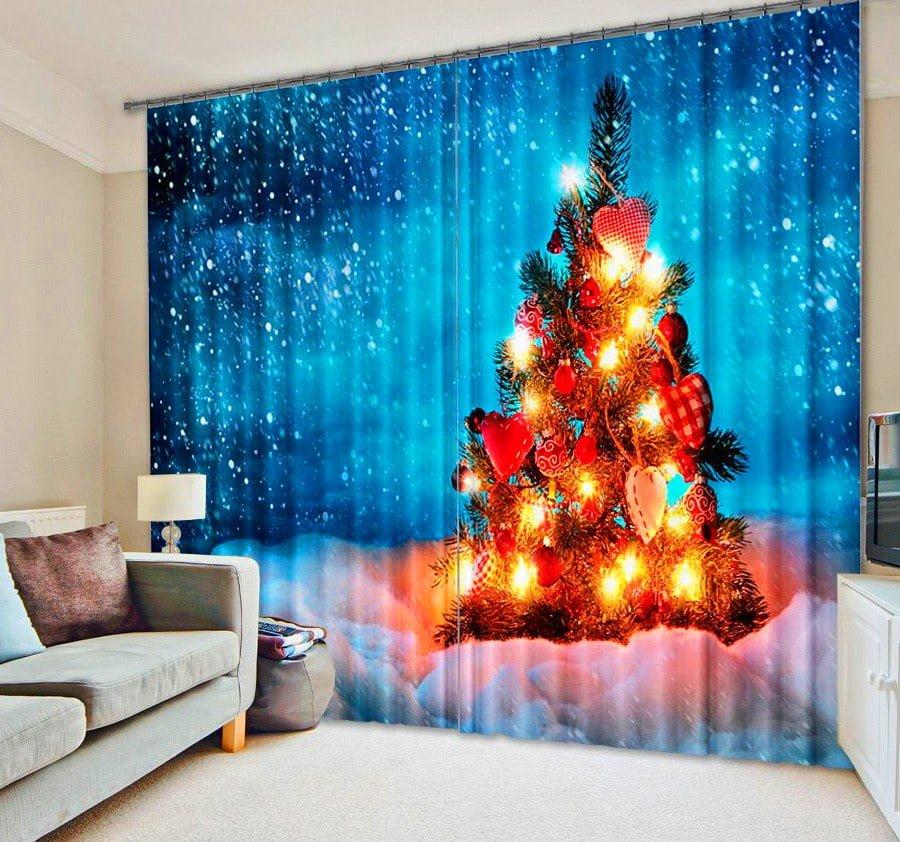 Curtain Print Christmas Tree Alternative