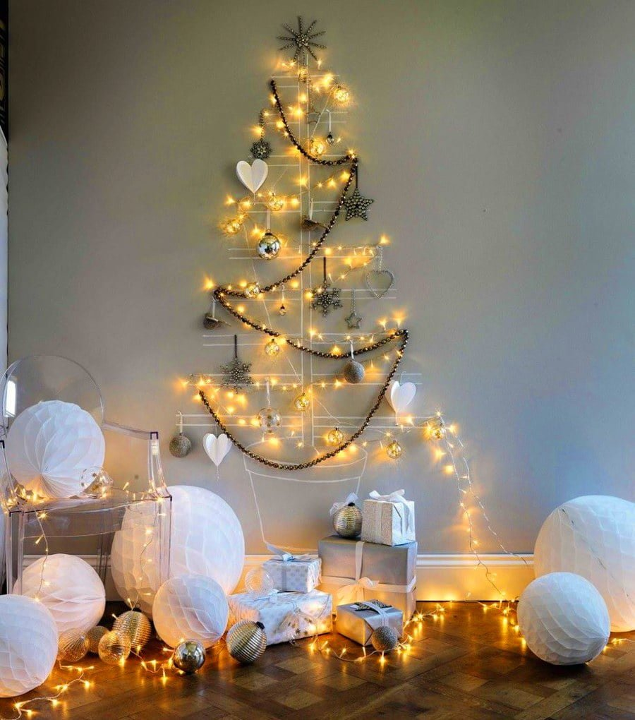 Fairy Light Christmas Tree Alternative
