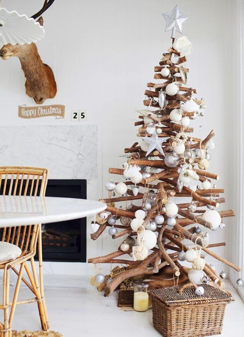 Rustic Twig Christmas Tree Alternative