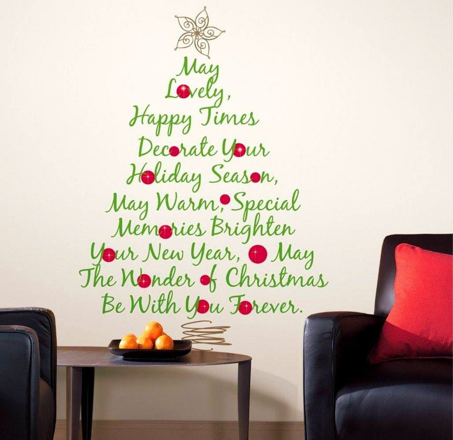 Word Art Christmas Tree Alternative