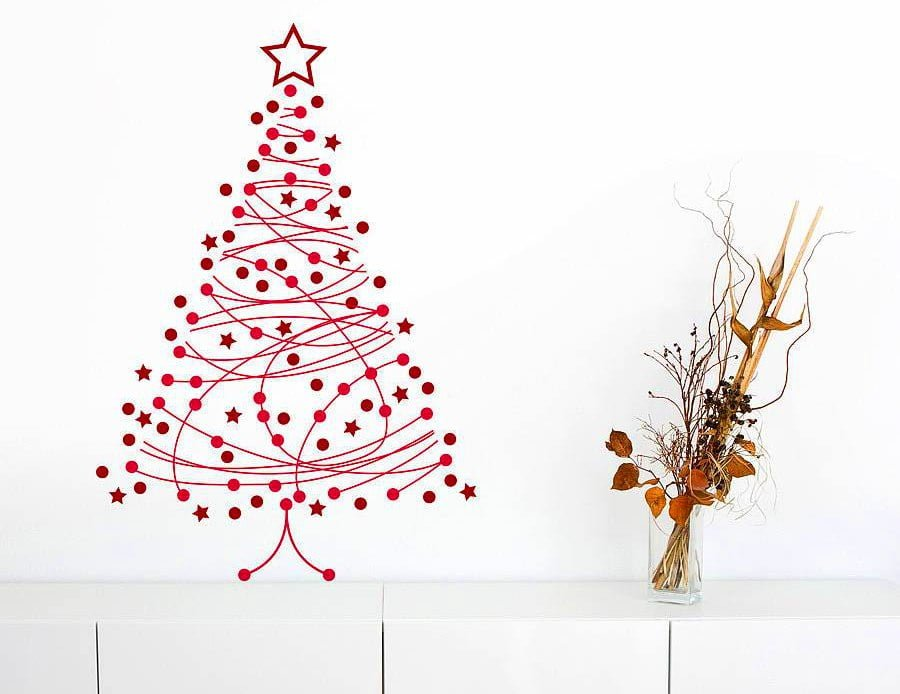 Wall Art Christmas Tree Alternative