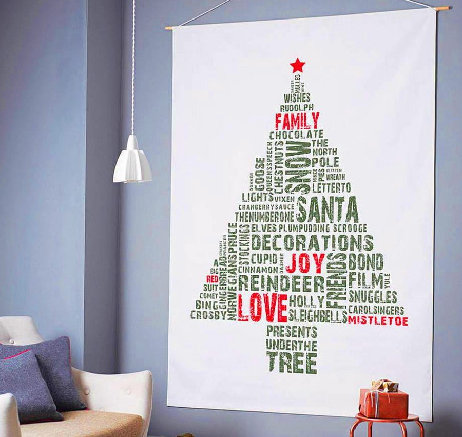 Tag Cloud Christmas Tree Alternative