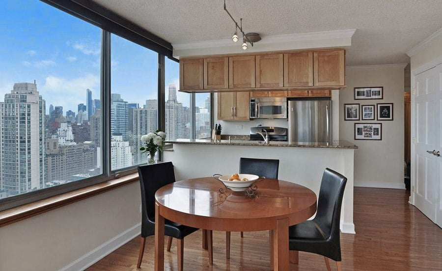 Kitchen with Big City View