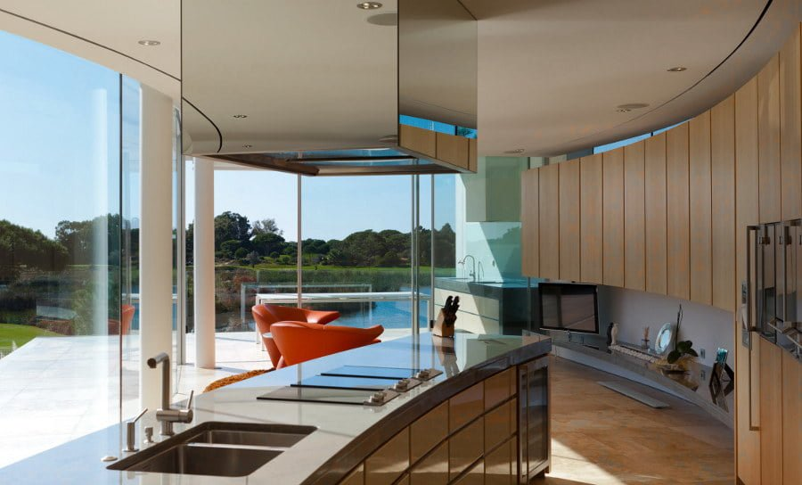 Kitchen with Lake View
