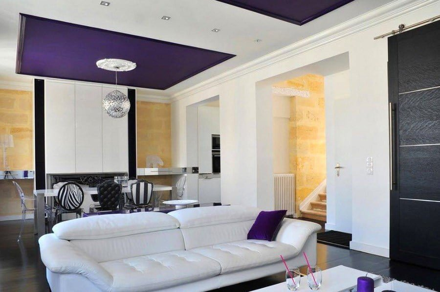 50 Unique Ceiling Design Ideas to Update the Forgotten Wall - Purple Ceiling Design