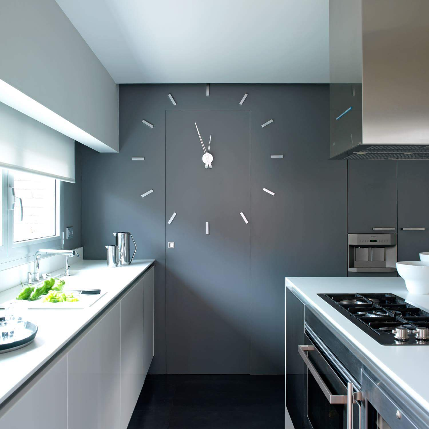Kitchen Door Wall Clock