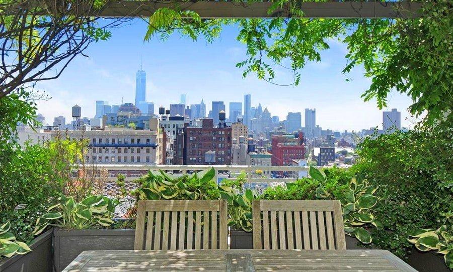 Terrace Garden over City View