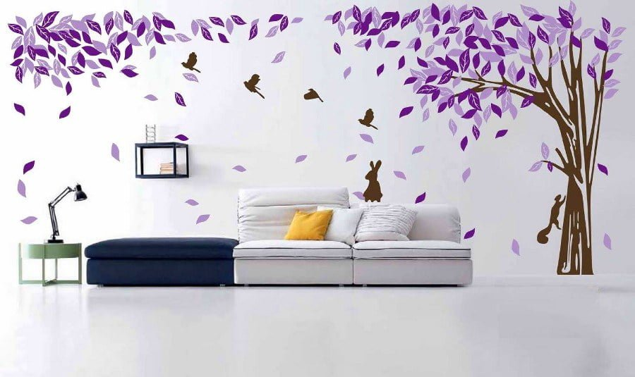 Tree Leafs Wall Art
