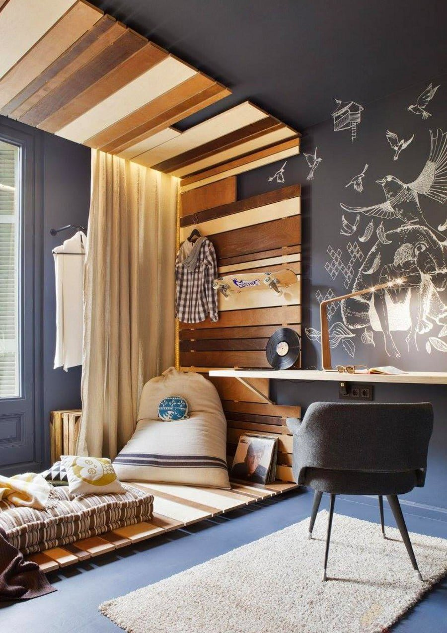 50 Unique Ceiling Design Ideas to Update the Forgotten Wall - Wooden Planks Ceiling Decor