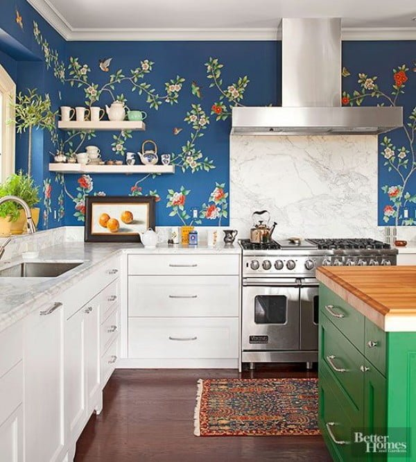 16 Creative Ways to Use Wallpaper in the Kitchen
