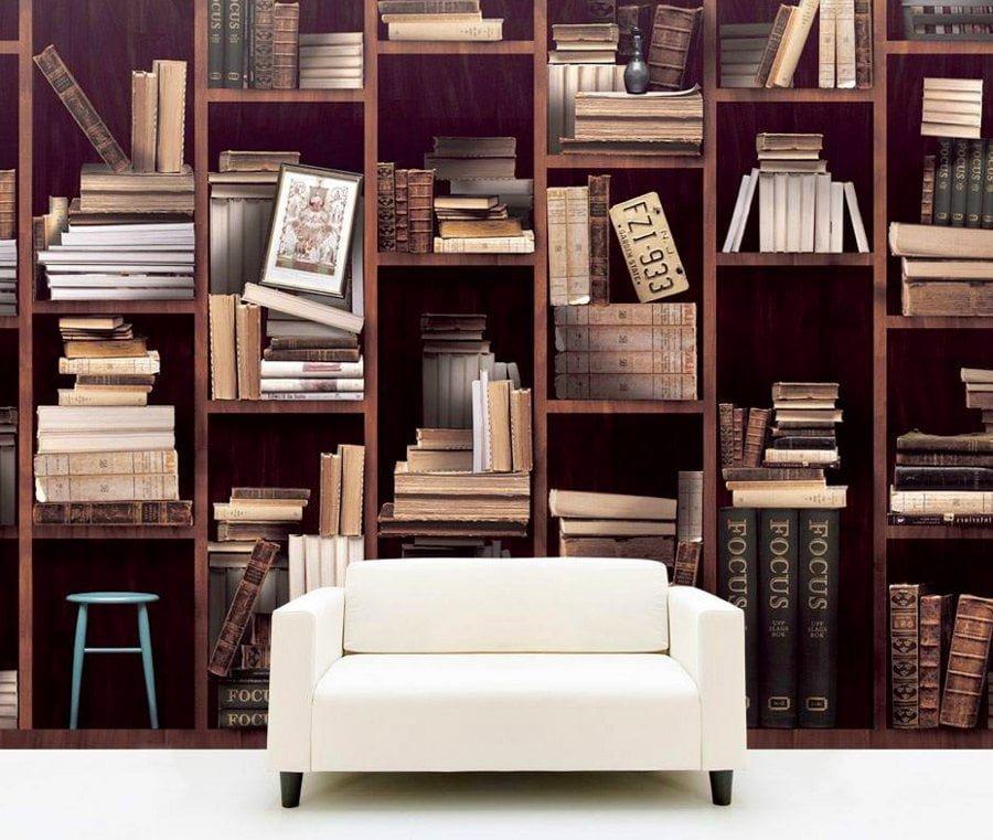 bookshelf-mural