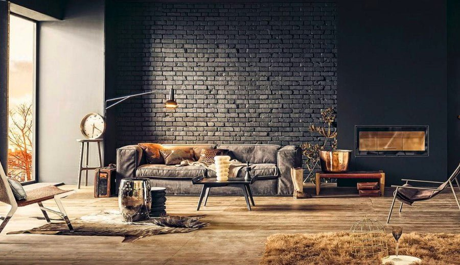 Chic Brick Wall Design