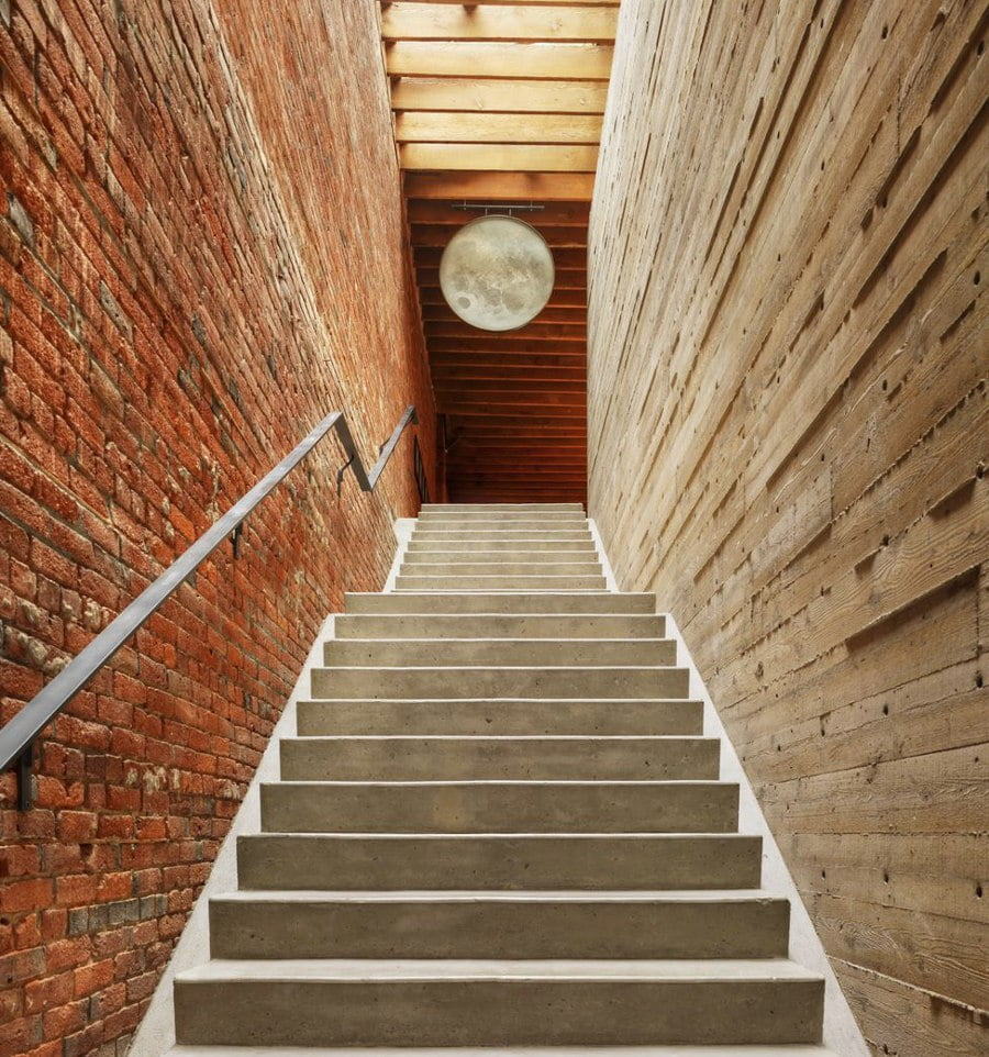 Brick Wall Staircase