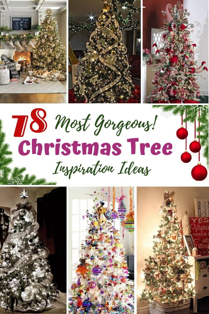 Need some extra inspiration for your Christmas tree decoration? Check out these 78 most gorgeous Christmas tree ideas! #homedecor #holidays #christmas