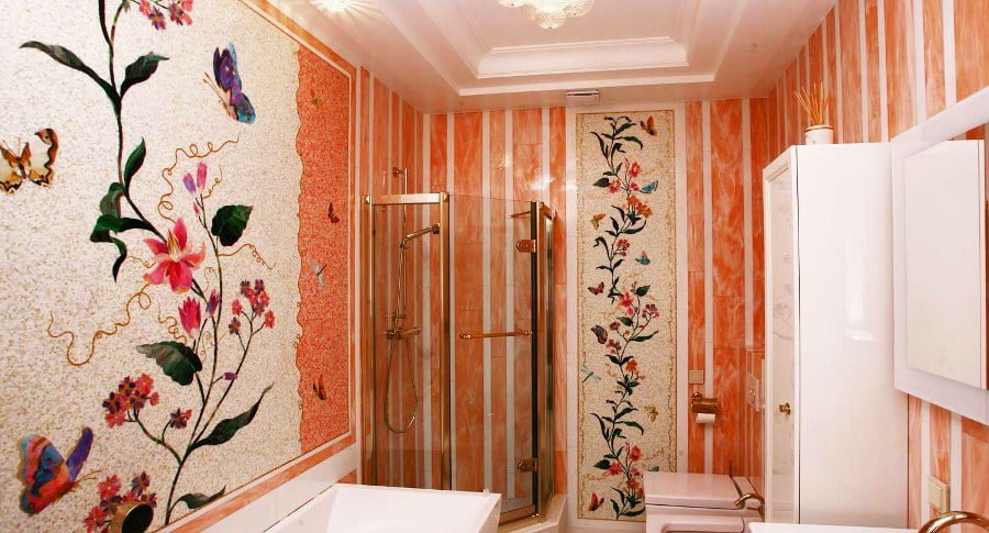Flower Mosaic Bathroom