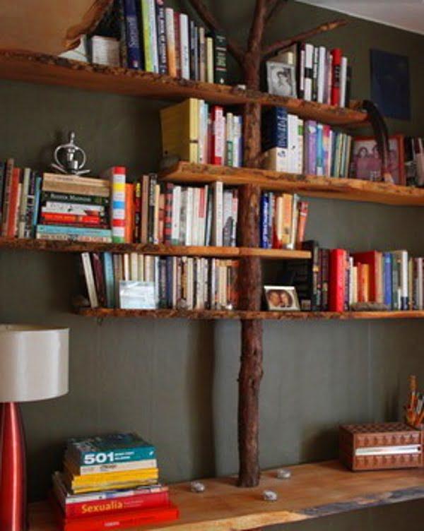 Tree Trunk Bookshelf