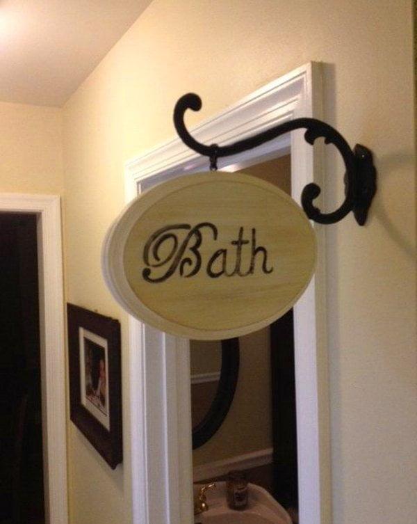 Vintage bath sign