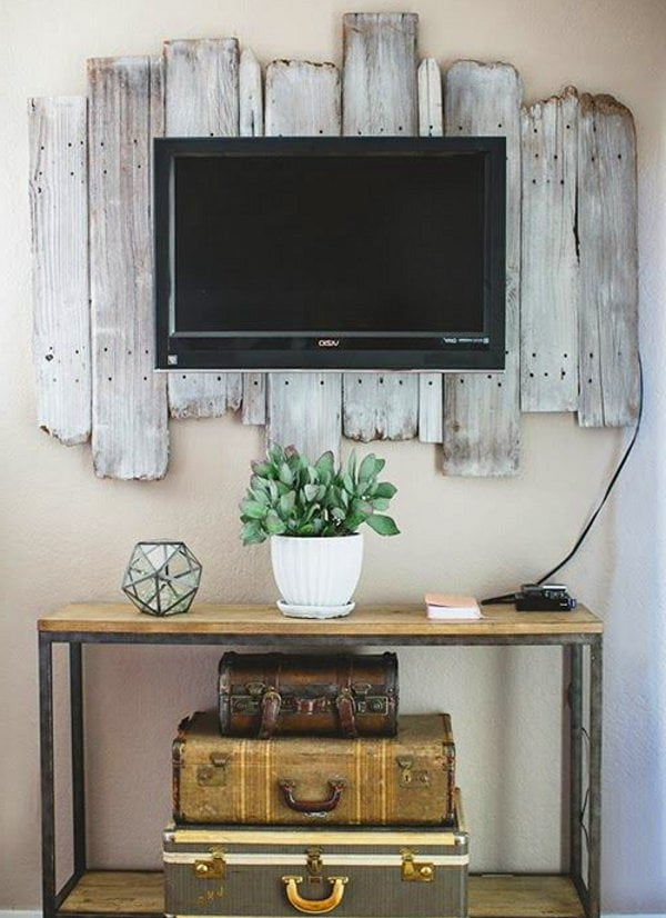 Vintage rustic tv decor