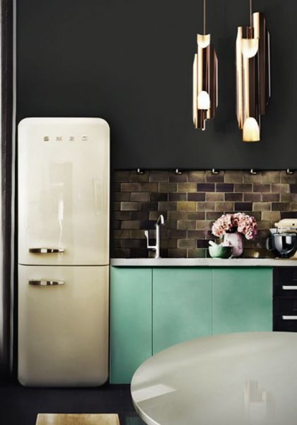 Black Retro Kitchen #homedecor