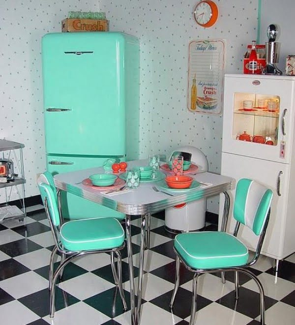 Dotted Retro Wallpapers #kitchendesign