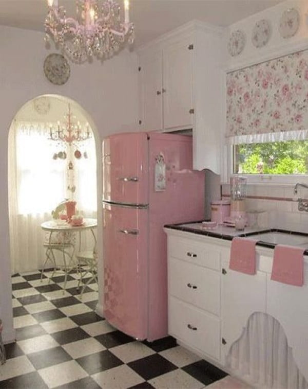 Luxe Retro Kitchen #kitchendesign