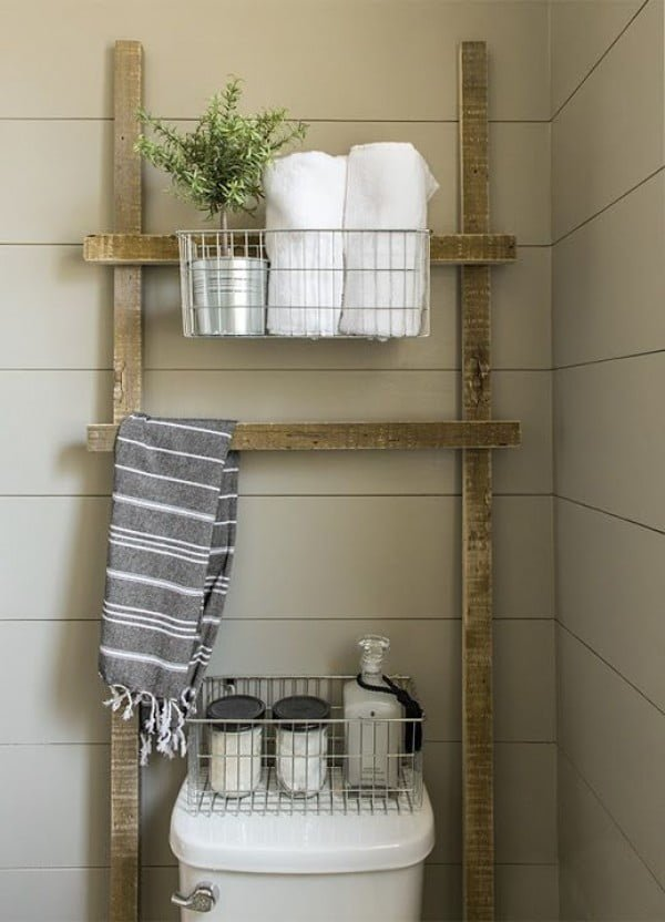 Rustic Storage Racks and Cabinets #bathroomdecor