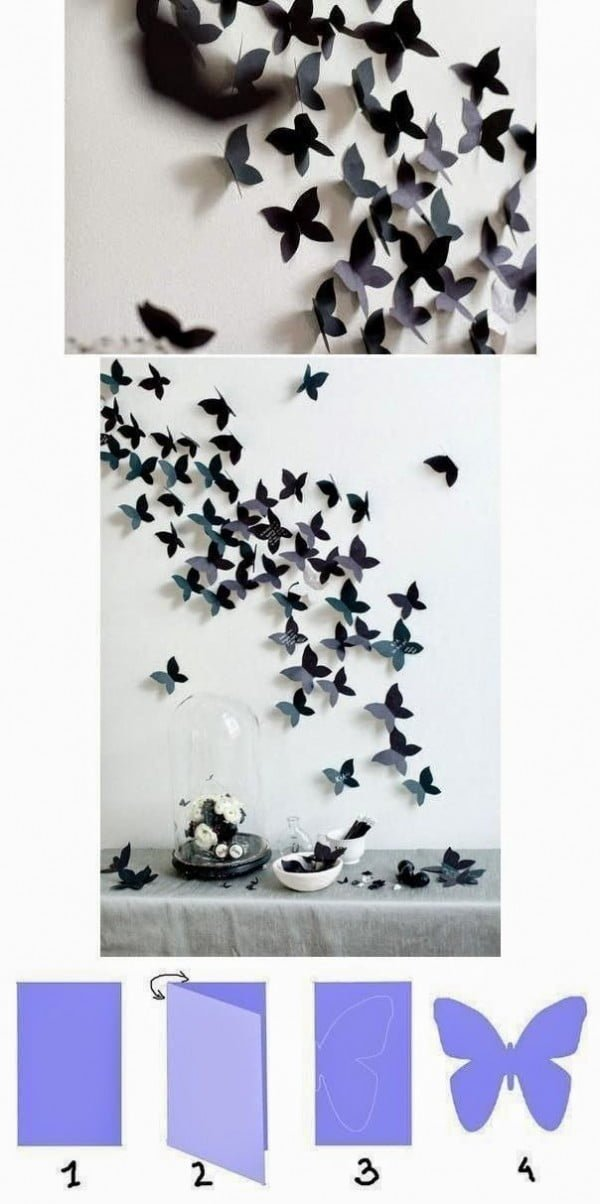How to make #DIY wall art from paper. Cute idea! #homedecorideas