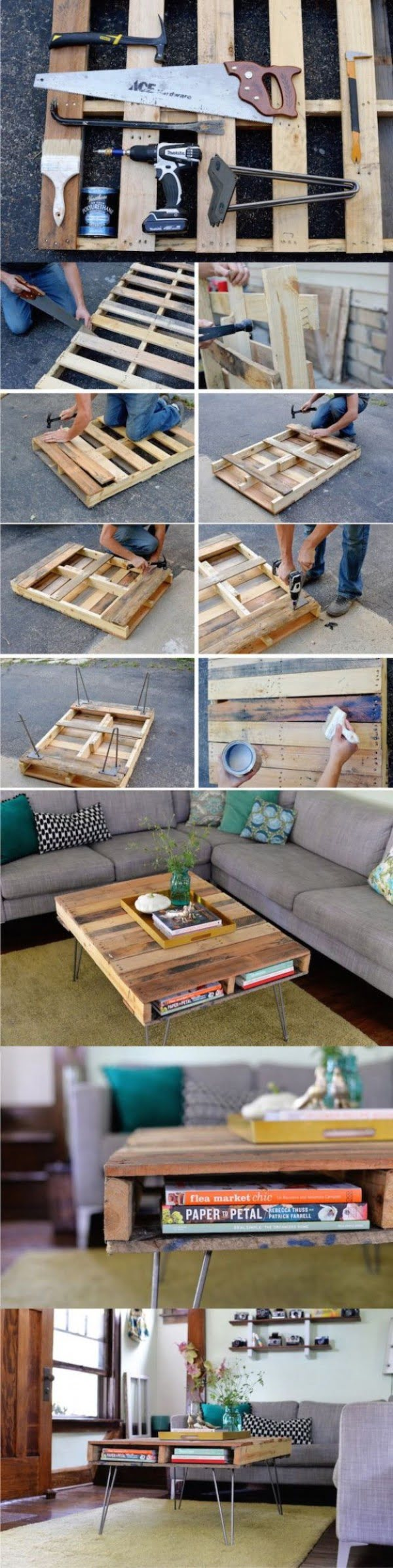 How to make an easy #DIY coffee table for your home from pallet wood. Worth a try! #homedecorideas