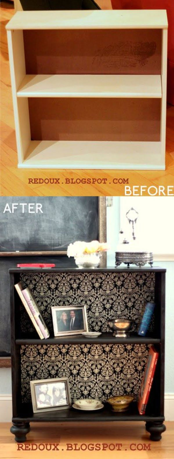 22 Easy DIY Bookshelf Ideas You Can Build at Home - Source: www.redouxinteriors.com
