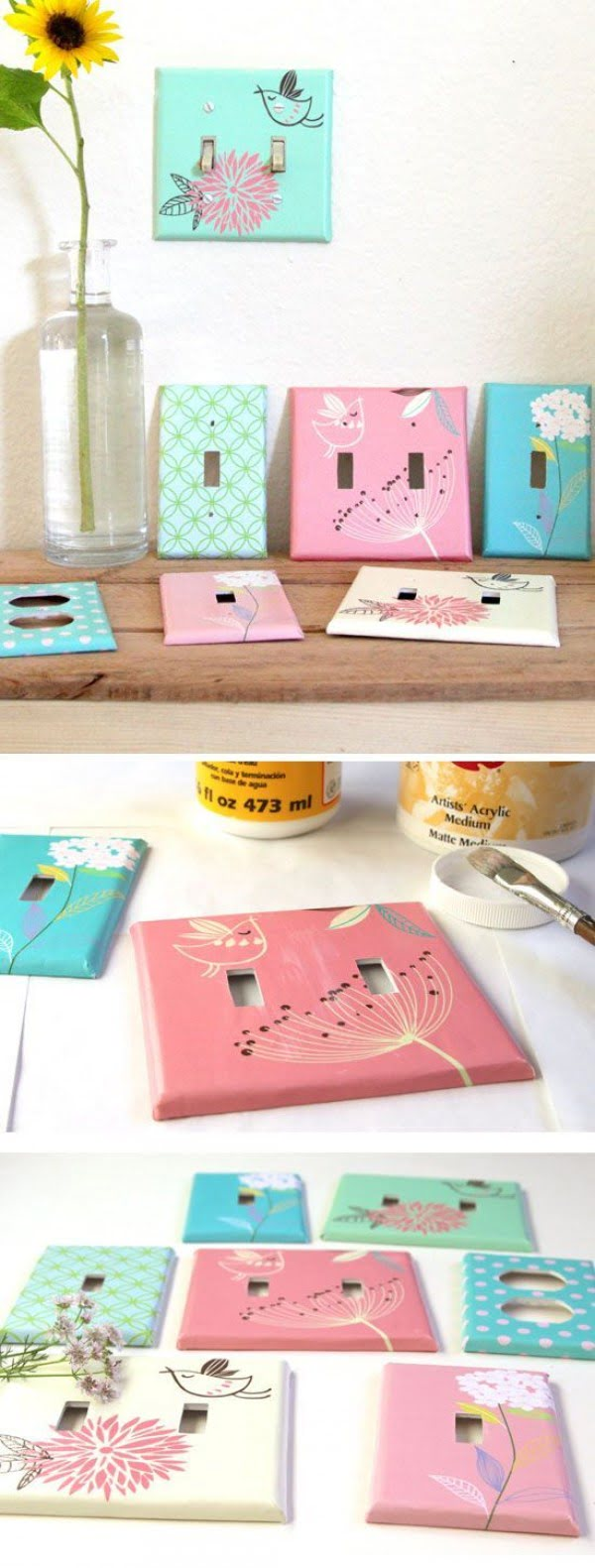 How to make neat #DIY designer light switch plates. Worth a try! #homedecorideas