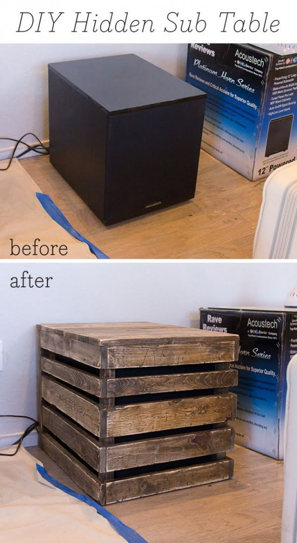 #DIY Hidden Sub Table #homedecor