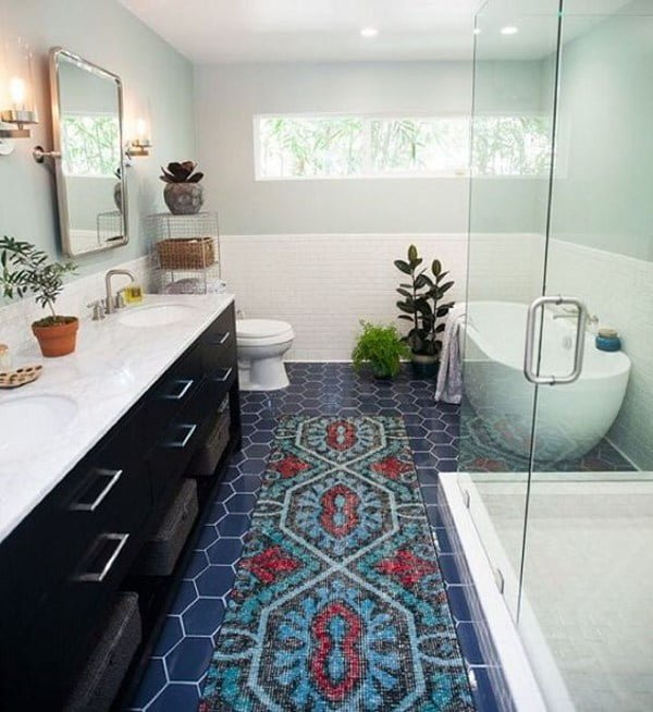 Real bathroom rug