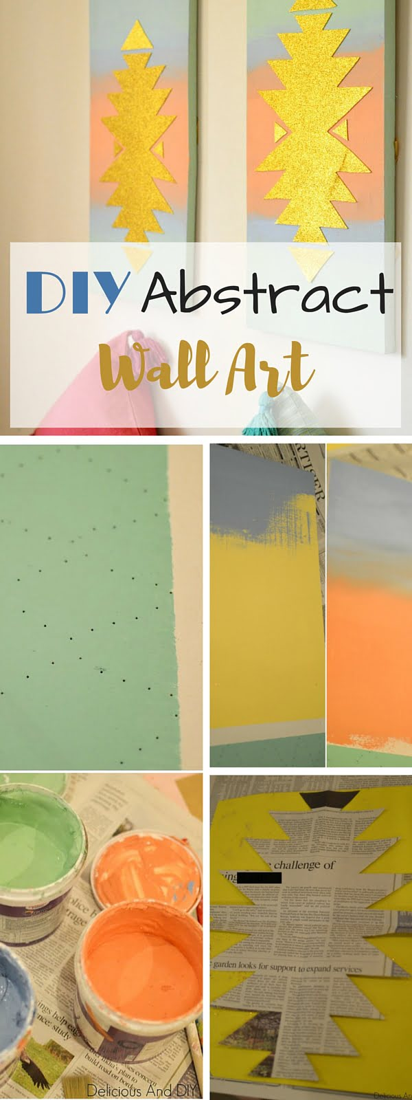 Check out the tutorial: #DIY Abstract Wall Art #crafts #homedecor