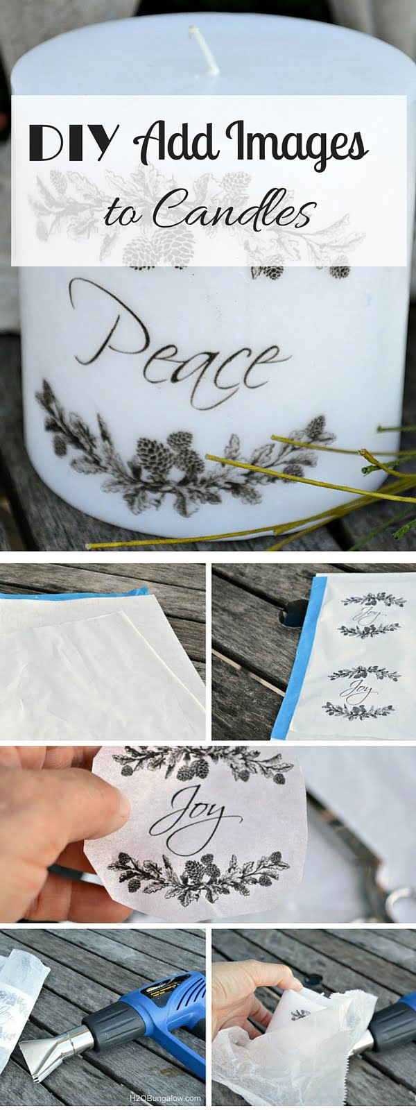 Check out the tutorial: #DIY Candle Images #crafts #homedecor