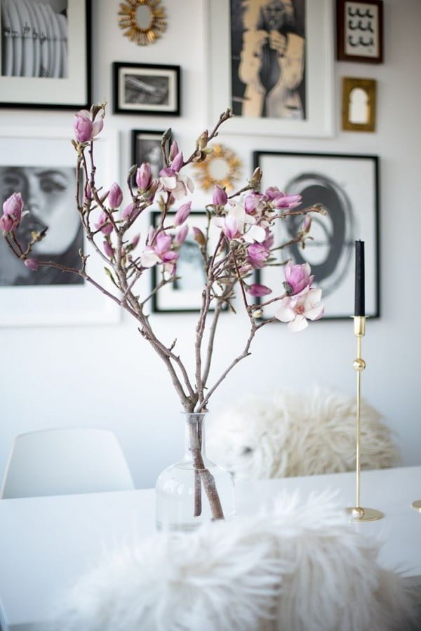 Fresh Flower Accent Home Decor