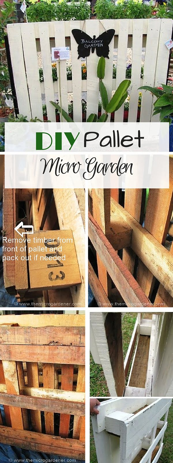 Check out the tutorial: #DIY Pallet Micro Garden
