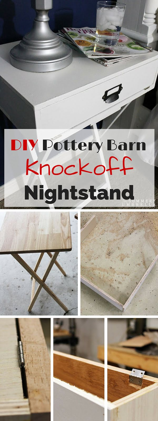 Check out the tutorial: #DIY Pottery Barn Nightstand #crafts #homedecor