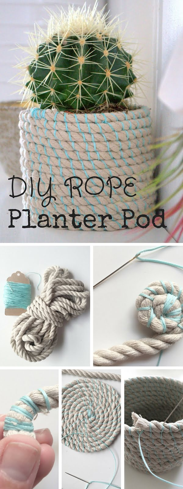 Check out the tutorial: #DIY Rope Pod #crafts #homedecor