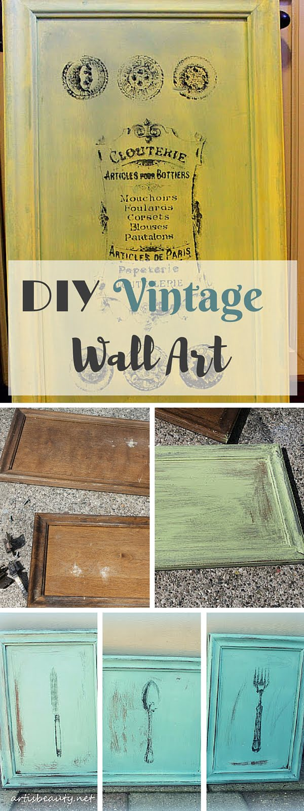 Check out the tutorial: #DIY Vintage Wall Art #crafts #homedecor